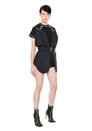 ROUNDED TECHNO DRILL ROMPER