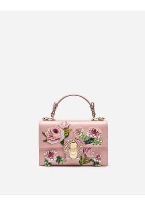 Dolce & Gabbana Bags - LUCIA TOP HANDLE BAG IN EMBROIDERED LEATHER PINK