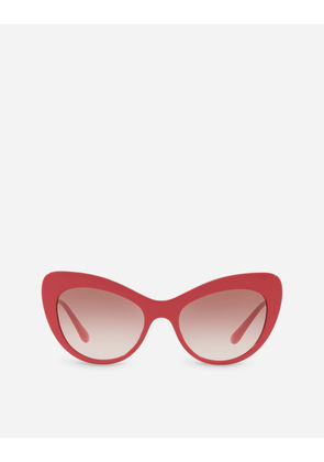 Dolce & Gabbana Sunglasses - CAT EYE SUNGLASSES WITH CRYSTAL DETAILS FUXIA