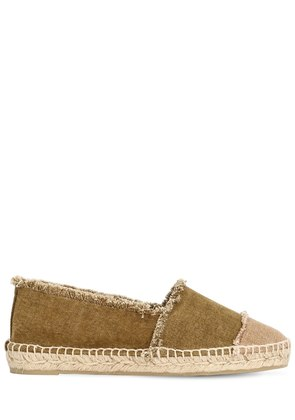 20MM FRINGED COTTON CANVAS ESPADRILLES