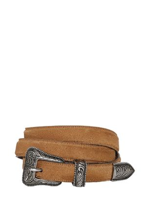 20MM WESTERN BUCKLE SUEDE BELT