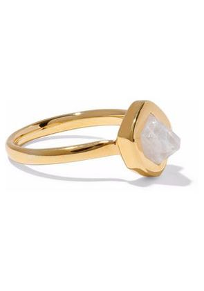 Monica Vinader Woman Petra Stacking 18-karat Gold Vermeil Moonstone Ring Gold Size 4.5
