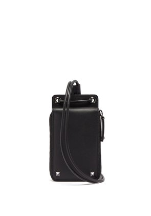 Rockstud neck wallet