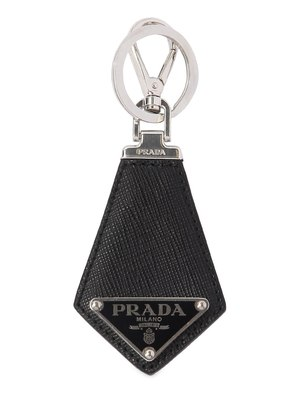 LOGO SAFFIANO LEATHER KEY RING