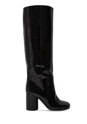 80MM SOCKS PATENT LEATHER TALL BOOTS