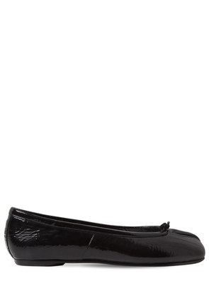 10MM TABI WRINKLED PATENT LEATHER FLATS