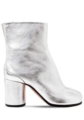 80MM TABI METALLIC LEATHER ANKLE BOOTS