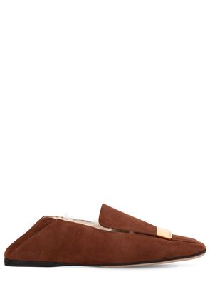 10MM SUEDE & SHEARLING LOAFERS