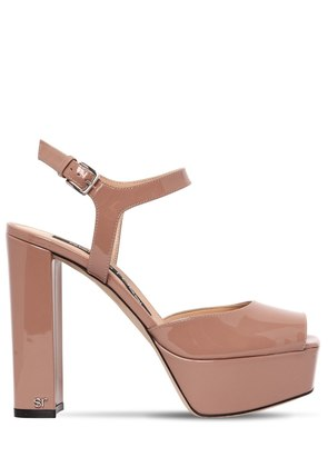 125MM PATENT LEATHER SANDALS