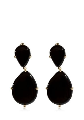 TEMPO ONYX DROP CLIP-ON EARRINGS