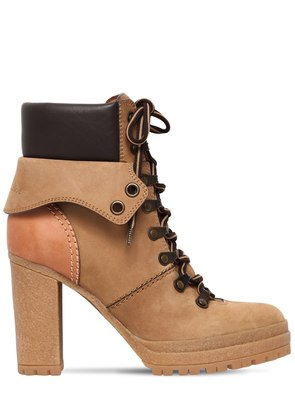 100MM SUEDE LACE-UP HIKING BOOTS