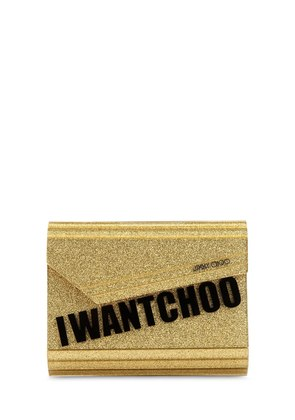 CANDY 'I WANT CHOO' GLITTERED CLUTCH