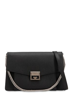 MEDIUM GV3 GRAINED LEATHER SHOULDER BAG