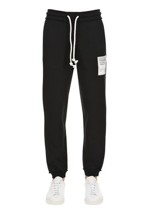 COTTON SWEAT PANTS WITH PATCH