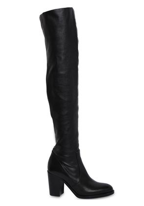 80MM STRETCH LEATHER OVER-THE-KNEE BOOTS