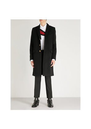 Single-breasted wool and cashmere-blend overcoat