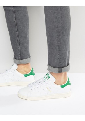 adidas Originals Stan Smith Leather Trainers In White S75074 - White