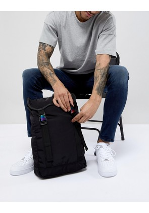 ASOS DESIGN hiker backpack in black with double straps - Black