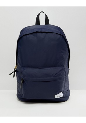 ASOS Backpack In Navy With Badge Detail - Navy