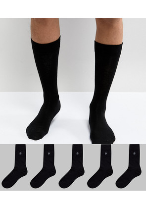 French Connection 5 Pack Socks - Black