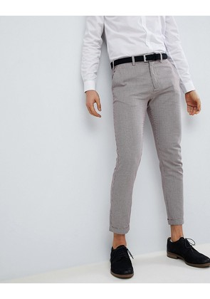 Pull&Bear Tailored Skinny In Check - Beige