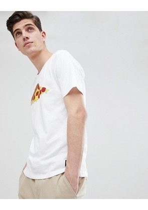 Only & Sons T-Shirt With Pizza Print - White