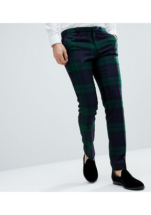 Heart & Dagger Woven In England Tartan Trouser - Green