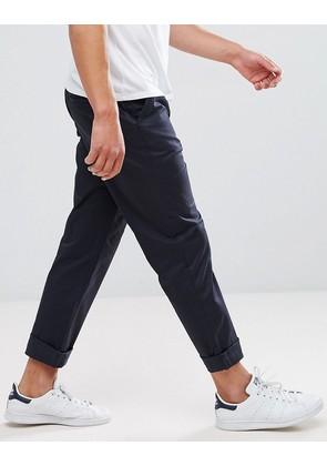 ASOS Straight Chinos In Navy - Navy