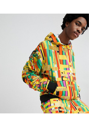 ASOS Made In Kenya x 2ManySiblings Hoodie In Yellow Gold Stripe - Yellow