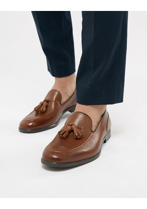 H By Hudson Aylsham Leather Loafers In Tan - Tan