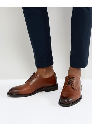 Selected Homme Leather Derby Shoes - Cognac