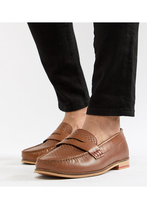 Silver Street Wide Fit Loafers In Tan Leather - Tan