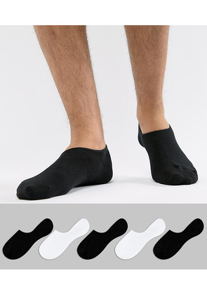 Jack & Jones Invisible Socks 5 Pack - Multi