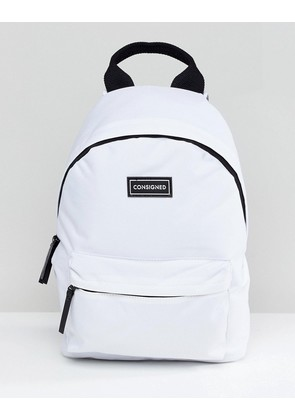 e28ec5392a0a Consigned Pocket Front Backpack - White