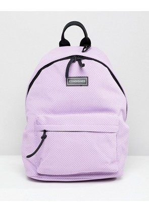 d2d136e36329 Consigned Sneaker Fabric Backpack - Lilac