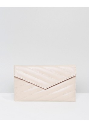 ASOS Quilted Clutch Bag - Cream
