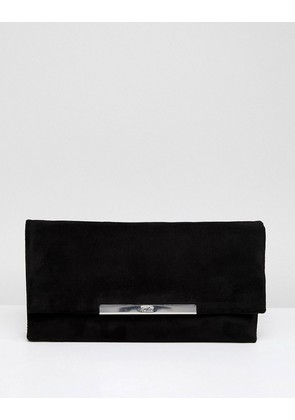 Faith Pip Foldover Clutch Bag - Black