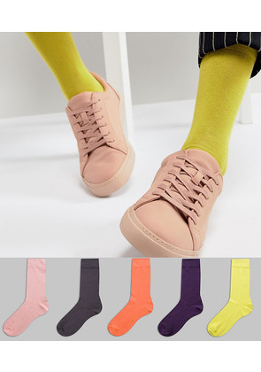 ASOS Socks In Faded Neons 5 Pack - Multi