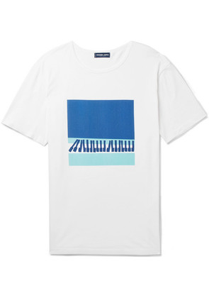 Frescobol Carioca - Waves Printed Cotton-jersey T-shirt - White