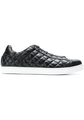 Gianvito Rossi quilted lace-up sneakers - Black