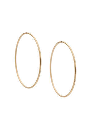 Erth large hoop earrings - Metallic