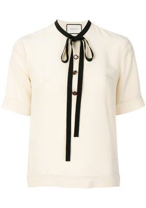 Gucci bow detail top - Nude & Neutrals