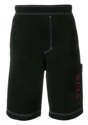 Valentino VLTN logo knit shorts - Black