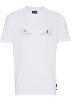 Fendi Monster Eyes applique t shirt - White
