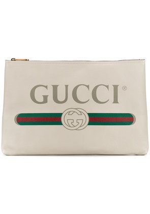 Gucci Gucci logo clutch - White