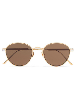 Cartier Eyewear - Round-frame Gold And Silver-plated Sunglasses - one size