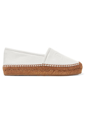 Dolce & Gabbana - Logo-embossed Leather Espadrilles - White