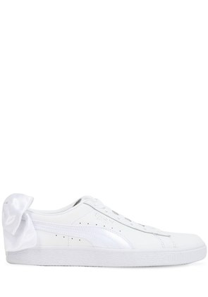 BASKET BOW LEATHER SNEAKERS