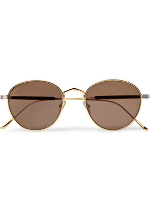 Cartier Eyewear - Round-frame Silver And Gold-tone Sunglasses - Gold
