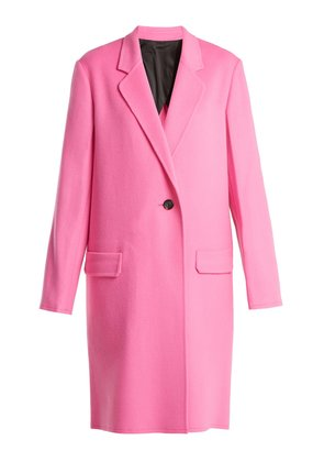Double-faced wool-blend coat